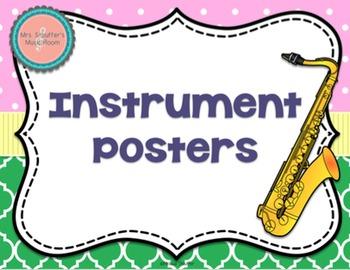 Instrument Posters {Garden of Music}