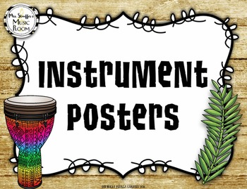 Instrument Posters {Hawaiian Tiki Beach}