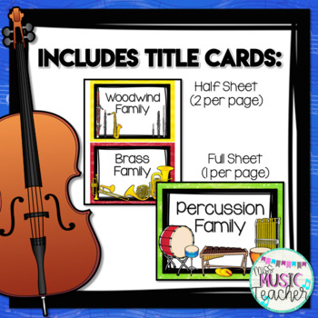 Instrument Posters: Orchestra Instruments