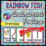 Instrument Posters - Rainbow Fish Theme PRINTABLE