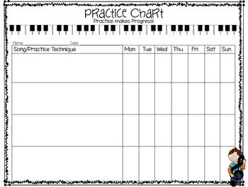 Instrument Practice Chart