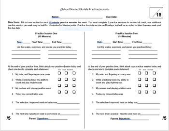 Instrument Practice Journal