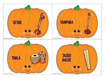 Instrument Puzzles {151 Pumpkin-Themed Musical Instrument Puzzles}