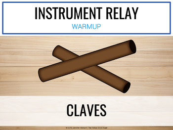 Instrument Relay: a game of instrument and rhythm identification
