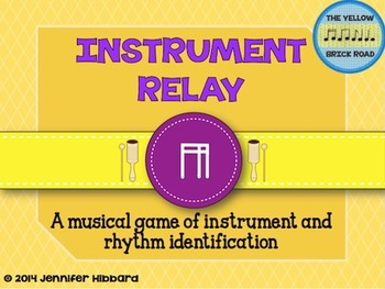 Instrument Relay: a game of instrument and rhythm identifi