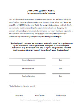 Instrument Rental Contract