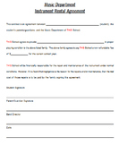 Instrument Rental Form (Editable)