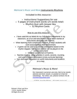 Instrument Rhythms (Editable Version)