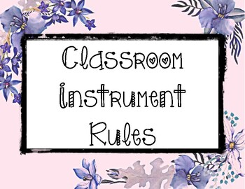 Instrument Rules: Floral