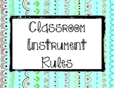 Instrument Rules: Patterns