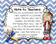 Instrument Rules for Elementary Music Class - Blue Watercolor Chevron