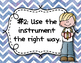 Instrument Rules for Elementary Music Class