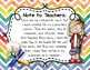 Instrument Rules for Elementary Music Class - Multi-color Watercolor Chevron