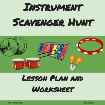 Instrument Scavenger Hunt - Lesson Plan and Worksheet
