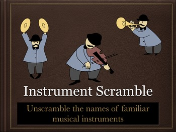 Instrument Scramble Game - Orchestra Musical Instrument Recognition - ppt