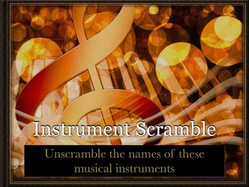 Instrument Scramble - Orchestra Musical Instrument Recognition - Keynote Mac