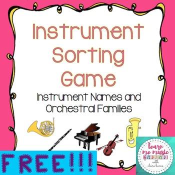 Instrument Sorting Game