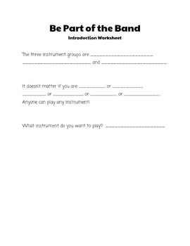 Instrument Testing Lesson Plans and Student Worksheets