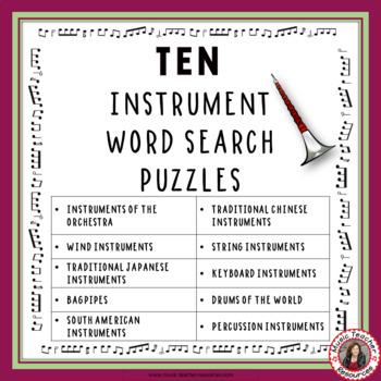 Music Games: Music Instruments: TEN World Music Instrument Puzzles