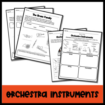 Instrument Worksheet Bundle K-5 by Sunshine and Music | TpT
