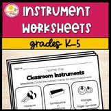 Instrument Worksheet Bundle K-5
