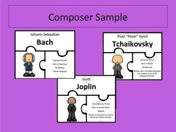 Instrument and  Composer Puzzle BUNDLE