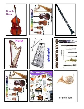 Instrument and Instrument family matching game