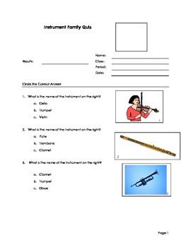 Instrument family test