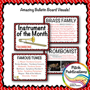 Instrument of the Month: TROMBONE - Detailed Lesson Plans and Bulletin Board