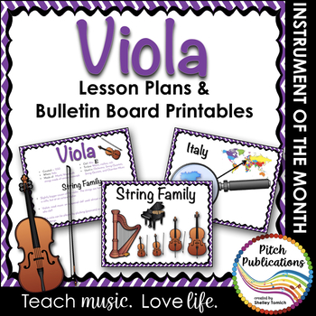 Instrument of the Month: VIOLA - Detailed Lesson Plans and Bulletin Board