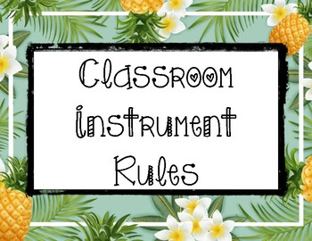 Instrument rules: Pineapple