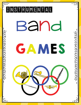Instrumental Band Games!  Ready to use or Editable!
