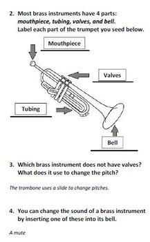 Instrumental Classmates: Brass Worksheet
