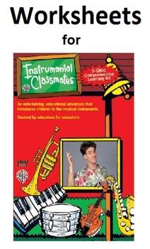 Instrumental Classmates: Woodwinds Worksheet