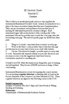 Instrumental Enrichment Survival Guide - Organization of Dots