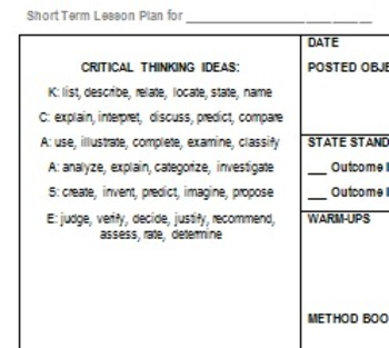 Instrumental Lesson Plan Template