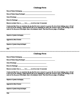 Instrumental Music Seating Challenge Form