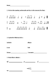 Instrumental Music Theory Worksheets