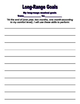 Instrumental Practice Journal