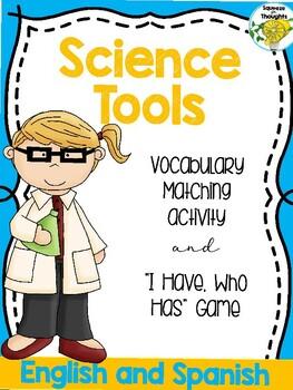 "Instrumentos de la Ciencia (Science Tools Matching and ""I Have, Who Has?"" Game)"