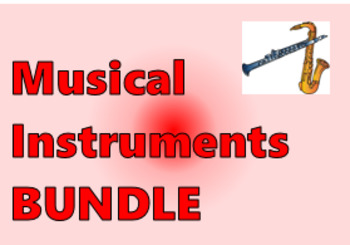Instrumentos musicais (Musical Instruments in Portuguese) Bundle