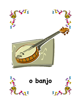 Instrumentos musicais (Musical instruments in Portuguese) Posters