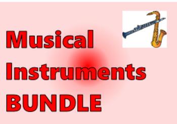Instrumentos musicales (Musical Instruments in Spanish) Bundle