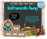 Instruments Away! A Smartboard Instrument Families Sorting