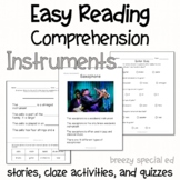Instruments - Easy Reading Comprehension for Special Education