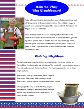 Instruments For Kids – The Musical Washboard - Activities and Craft