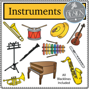 Instruments (JB Design Clip Art for Personal or Commercial Use)