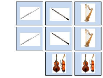 Instruments Of The Orchestra Matching Game