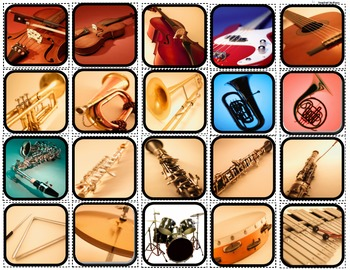 """""""Instruments & The Orchestra"""" Matching/Sorting/Flashcards for Autism"""