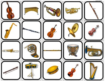 """Instruments & The Orchestra"" Matching/Sorting/Flashcards for Autism"